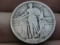 1917 P SILVER STANDING LIBERTY QUARTER, VARIETY 1, TYPE 1, FINE/VF DETAILS