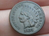 1875 INDIAN HEAD CENT PENNY- FINE/VF DETAILS