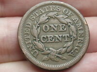 1848 BRAIDED HAIR LARGE CENT PENNY- VF DETAILS