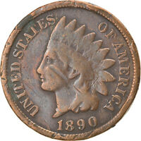 [866874] COIN, UNITED STATES, INDIAN HEAD CENT, CENT, 1890, U.S. MINT