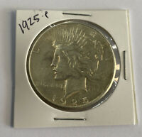 1925 P PEACE DOLLAR UNGRADED LUSTER 90  SILVER NO RESERVE