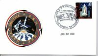 SPACE SHUTTLE STAMP FIRST DAY OF ISSUE 1/12/2000 MIR DOCKING