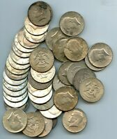 TWO ROLLS 40 COINS 1964  KENNEDY HALF DOLLARS $20 FACE VALUE