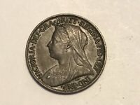 SUPERB : 1900 - ONE FARTHING - 1/4D COIN - QUEEN VICTORIA - HIGH GRADE EF