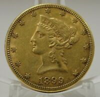 1899S UNITED STATES US $10 LIBERTY EAGLE GOLD COIN 68971