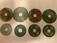 4 PAIRS OF ANCIENT CHINESE COINS  SONG DYNASTY 100 YEARS OLD