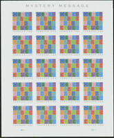 US 5614A MYSTERY MESSAGE IMPERFORATE NO DIE CUTS SHEET PANE