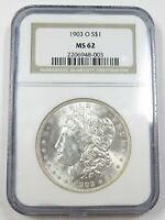 1903-O NGC MINT STATE 62 MINT STATE SILVER MORGAN DOLLAR $1 US COIN ITEM 28900B