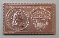 NUMISTAMP MEDAL COIN 1798 UNITED STATES DRAPED BUST DIME 10 CENTS 1973 MORT REED
