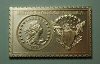 UNITED STATES US 1798 LIBERTY DRAPED BUST DOLLAR NUMISTAMP MEDAL 1976 MORT REED