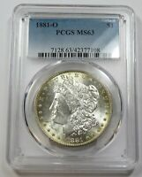 1881-O PCGS MINT STATE 63 MINT STATE SILVER MORGAN DOLLAR $1 US COINS ITEM 29065A