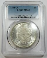 1881-O PCGS MINT STATE 63 MINT STATE SILVER MORGAN DOLLAR $1 US COINS ITEM 29066A