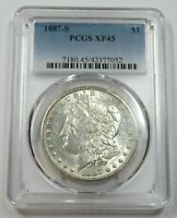 1887-S PCGS EXTRA FINE 45 SILVER MORGAN DOLLAR $1 US COINS ITEM 29127A