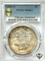 1903-O MORGAN SILVER DOLLAR   PCGS MINT STATE 66   NEW ORLEANS   GOLD SHIELD