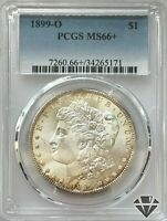 1899-O MORGAN SILVER DOLLAR   PCGS MINT STATE 66   NEW ORLEANS   90 SILVER