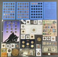 LOT OF TITTYNOPE COINS CURRENCY RANDOM JUNK SILVER NGC PROOF