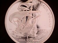 2004 CANADA 'FRENCH SETTLEMENT' 'FROSTED PROOF' SILVER DOLLA