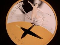 2009 CANADA 'FIRST FLIGHT' 'FROSTED PROOF' SILVER GOLD PLATE