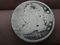 1835 CAPPED BUST SILVER DIME- GOOD DETAILS