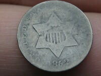 1852 THREE 3 CENT SILVER TRIME- GOOD DETAILS