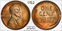 LINCOLN CENT 1931 PCGS MS65RD STUNNING LUSTER COLORS