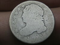 1814 CAPPED BUST SILVER DIME- SMALL DATE- AG DETAILS