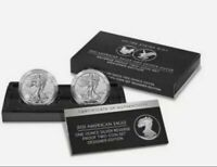 PRESALE. CONFIRMED ORDER 2021 SILVER EAGLE REVERSE PROOF TWO-COIN SET