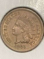 SHARP 1863 INDIAN HEAD CENT IN CHOICE UNCIRCULATED