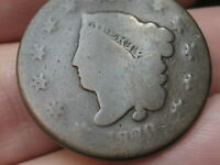 1820 MATRON HEAD LARGE CENT PENNY- SMALL DATE, GOOD DETAILS