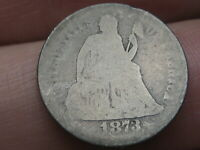 1873 S SEATED LIBERTY DIME- WITH ARROWS