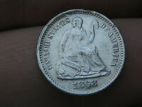 1868 S SEATED LIBERTY HALF DIME- EXTRA FINE  DETAILS, DIE CRACKS