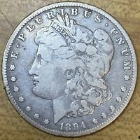 1894 O MORGAN SILVER DOLLAR VG CONDITION KEY DATE NEW ORLEANS MINT CARAT COIN