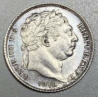 1816 GREAT BRITAIN GEORGE III SILVER 6P SIXPENCE BRILLIANT UNC