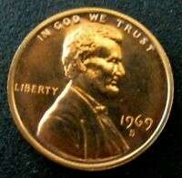1969 S PROOF LINCOLN MEMORIAL CENT PENNY COIN FREE SHIP