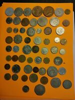 58 COINS 1941 1990'S FOREIGN COIN LOT COLLECTION MEXICO CHIN