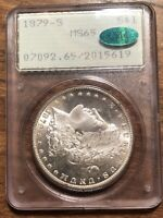 1879-S MORGAN DOLLAR - PCGS MINT STATE 65, CAC APPROVED PQ & MINT STATE 66 QUALITY RATTLER