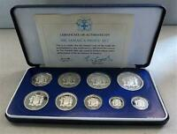 1981 SILVER JAMAICA LIMITED EDITION PROOF 9 COIN COLLECTOR SET MINTAGE 1 519