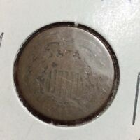 1864 2 CENTS. COLLECTOR COIN FOR YOUR SET OR COLLECTION. LOW GRADE COIN.