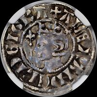 ALEXANDER III THE GLORIOUS KING SCOTLAND 1280 NGC VF35 PENNY SILVER S 5056 TONED