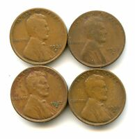 1933 D   1C LINCOLN CENT LOT   CIRCULATED   BETTER DATE!   4 COINS