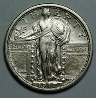 1917S TYPE 1 STANDING LIBERTY QUARTER COIN ANACS CLEANED XF40 EF 40 LOT MZ 793