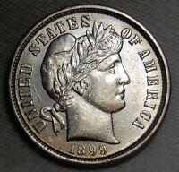 1899 BARBER DIME MS BU UNC SILVER US COIN