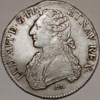 G498 ECU LOUIS XVI BR OLIVIERS 1784 N MONTPELLIER SILVER ARGENT    F OFFRE