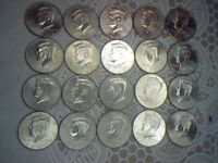 KENNEDY HALF DOLLARS 2002 THROUGH 2013 P & D MIXED ROLL OF 20 COINS