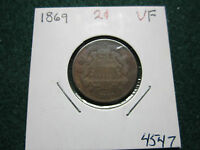 1869 TWO CENTS