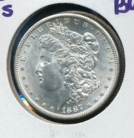 1887 S MORGAN SILVER DOLLAR  CHOICE BU BEAUTIFUL COIN DOM3916