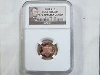 2014 S PROOF LINCOLN SHIELD CENT/PENNY   E. R.   NGC PF 70 RED ULTRA CAMEO 126