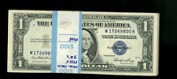 $1 1935E GEM SILVER CERTIFICATE PACK OF 100 CONSECUTIVE BANDED WITH 3 STARS