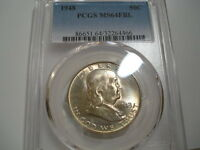 1948 PCGS MS64FBL FRANKLIN HALF DOLLAR   PRETTY TONING