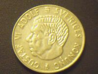 1960 SWEDEN KRONA   GREAT SILVER COIN   SEE PICS